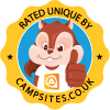 Rated Unique by campsites.co.uk